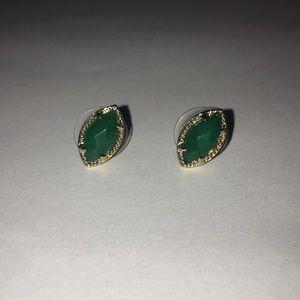 Green Kendra Scott earrings